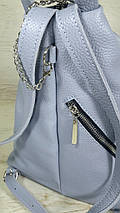 294 Натуральная кожа Светлый голубой городской кожаный рюкзак женский из натуральной кожи Карабин антивор, фото 2