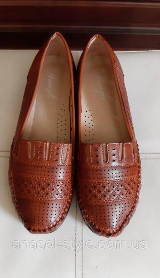 Туфлі жіночі CAB великого розміру на широку ногу, коричневі
