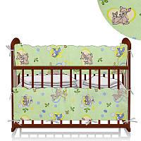 Защита в кроватку Бемби Зеленый ТМ Беби-Текс SKL11-218880
