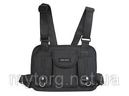Нагрудная сумка Hgul Bag мужская  Черный