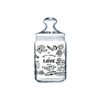Банка для сыпучих Luminarc Club Love Pasta P6016 1 л
