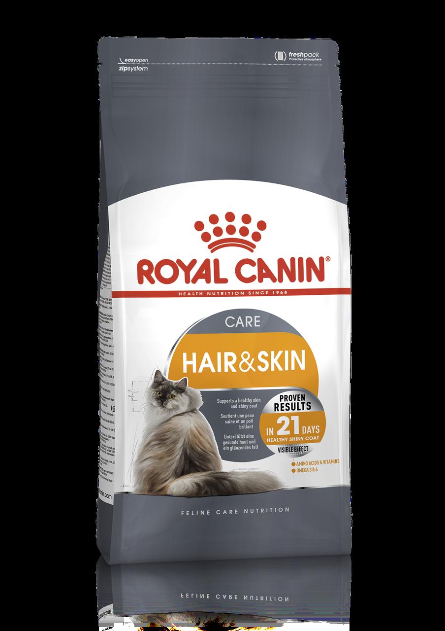 Royal Canin HAIR&SKIN CARE 4кг - КОРМ ДЛЯ ДОРОСЛИХ КІШОК, що СПРИЯЄ ПІДТРИМЦІ ЗДОРОВ'Я ШКІРИ ТА ШЕРСТІ