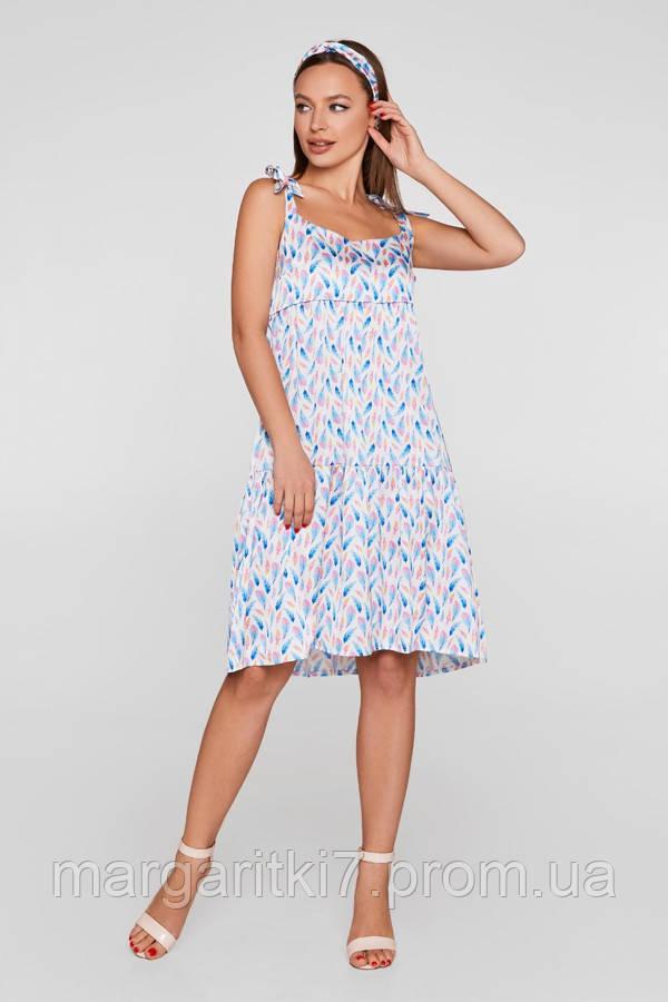 Летнее платье для беременных и кормящих Lullababe в перья