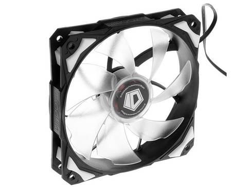Вентилятор ID-Cooling PL-12025-W, 120x120x25мм, 4-pin PWM, черный с белым, фото 2