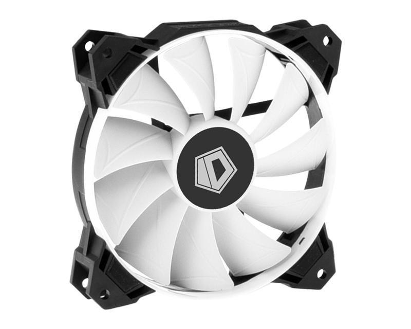 Вентилятор ID-Cooling WF-12025, 120х120х25мм, 4-pin PWM, чорний з білим