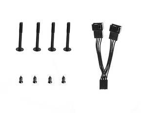 Вентилятор ID-Cooling WF-12025, 120х120х25мм, 4-pin PWM, чорний з білим, фото 3
