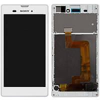 Дисплейный модуль (+ сенсор) для Sony Xperia T3 D5102 / D5103 / D5106, с передней панелью, оригинал