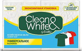"""Хозяйственное мыло Duru Clean&White """"Универсальное"""" (4*125г.)"""