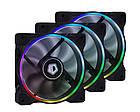 Вентилятор ID-Cooling ZF-12025-RGB Trio (3pcs Pack), 120x120x25мм, 4-pin PWM, черный, фото 2