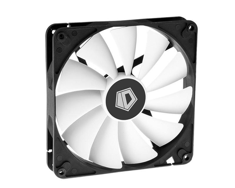 Вентилятор ID-Cooling WF-14025, 140x140x25мм, 4-pin PWM, черный с белым