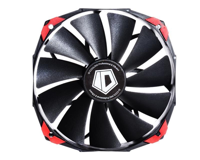 Вентилятор ID-Cooling NO-14025K, 140x140x25мм, 4-pin PWM, черный
