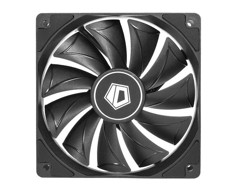 Вентилятор ID-Cooling XF-12025-SD-K, 120x120x25мм, 4-pin, черный
