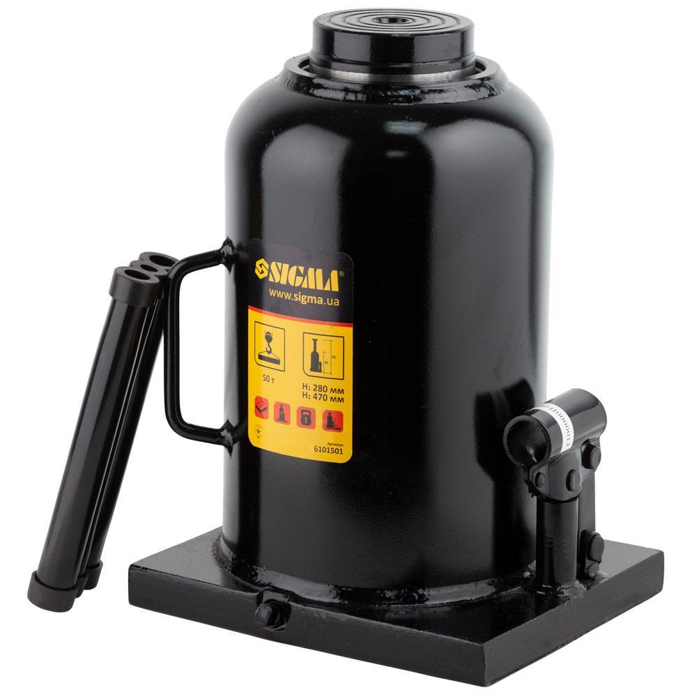 Домкрат гидравлический бутылочный 50т H 280-470мм SIGMA (6101501)