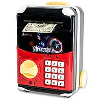 🔝Детский сейф с электронным кодовым замком для детей   Капитан Америка  копилка детская с доставкой   🎁%🚚