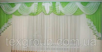 Ламбрекен шифоновый на карниз 4м Камелия, фото 2