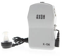 🔝 Слуховой апарат, Axon x 136, цвет - бежевый, Аксон, усилитель слуха | 🎁%🚚