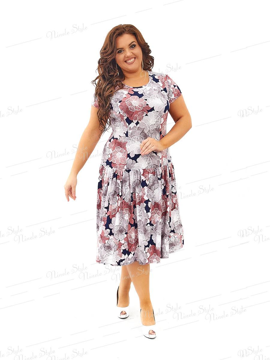 Повседневное платье 436-7 54