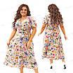 Нарядное шелковое платье с цветочным  принтом 434-1 54, фото 4