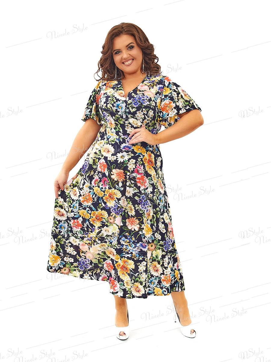 Нарядное шелковое платье 434 54