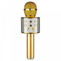 🔝 Микрофон для караоке, WSTER WS858, блютуз микрофон для пения, детский микрофон с динамиком   🎁%🚚