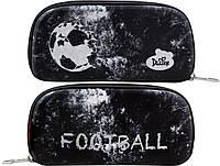 Школьный пенал Delune для мальчика Футбол 10,5х22х3,5 см Черный (D-836)