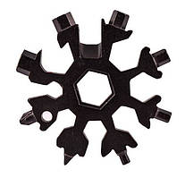 🔝 Универсальный ключ Снежинка (черный) Multitool Snowflake Tool гаечный (и не только) с доставкой | 🎁%🚚