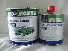 Автоэмаль акриловая Mobihel 201 Белая 0,75л + отвердитель 9900 0,375л