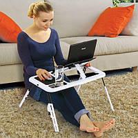 Портативный складной столик для ноутбука с вентиляциейE-Table LD09 (M1)
