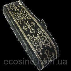 Тасьма церковна (галун) 5 див. чорна з золотом (653-Т-0704)