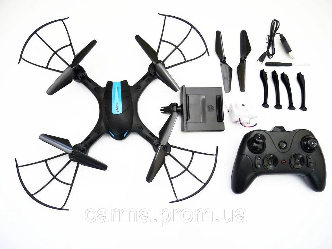 Квадрокоптер с камерой LH-X43W WiFi Черный