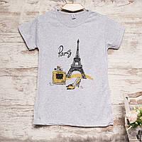 3212-2 серая Carla Mara футболка женская с принтом стрейчевая (S-XL, 6 ед.)