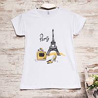 3212-3 белая Carla Mara футболка женская с принтом стрейчевая (S-XL, 6 ед.)