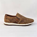 Мужские Мокасины Летние Сеточка Коричневые Туфли (размеры: 40), фото 2