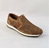 Мужские Мокасины Летние Сеточка Коричневые Туфли (размеры: 40), фото 3