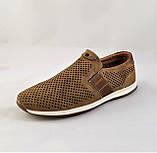 Мужские Мокасины Летние Сеточка Коричневые Туфли (размеры: 40), фото 7