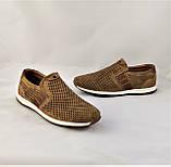 Мужские Мокасины Летние Сеточка Коричневые Туфли (размеры: 40), фото 9