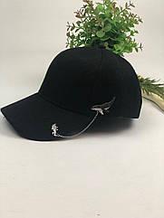Комплект Кепка бейсболка Style (черная) + металлический значок пин Кит и космонавт