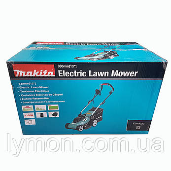 Електрична газонокосарка Makita ELM3320, фото 2