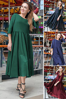 Темное платье с пышной юбкой Ренессанс