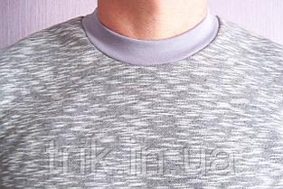 Теплый мужской домашний костюм серый меланж, фото 3