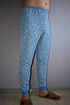 Мужской домашний костюм теплый голубой меланж, фото 3