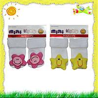 Носочки для новорожденных с погремушками