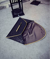 Элегантный клатч конверт в блестках, фото 3