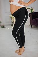 650201 Спортивные лосины для беременных черные под живот, фото 1