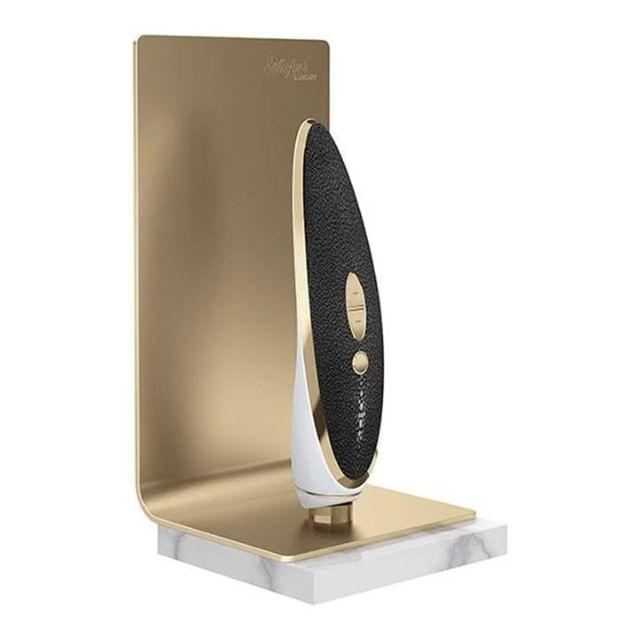 Вакуумный вибратор для клитора Satisfyer Luxury Haute Couture Black клиторальный стимулятор