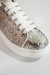 Женские кроссовки Lace-Up Glitter-leather