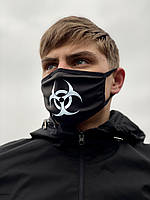 Маска мужская | женская защитная тканевая VIRUS-COBRA x black, фото 1