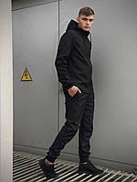 Чоловічий костюм чорний демісезонний Intruder Softshell Light Куртка чоловіча синя, сині штани чорні сірі, фото 1