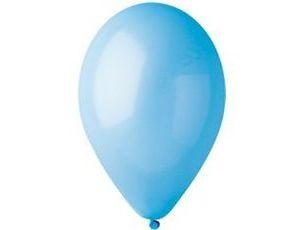 Воздушный шар без рисунка 30 см голубой
