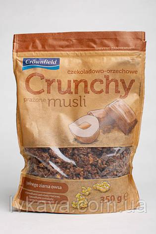 Мюсли хрустящие ( кранчи ) шоколадно - ореховые Crownfield , 350 гр, фото 2
